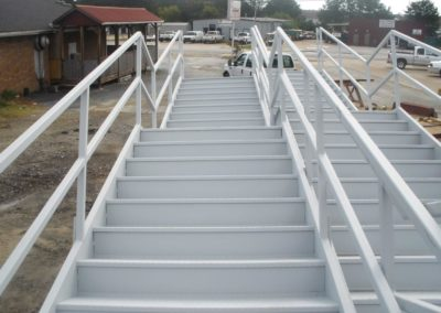Structural Stairs Multi Landing  End View
